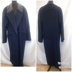 Vintage Wool Coat w/Paisley Collar 14T